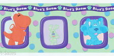 Dinosaur Dog Bunny Nick Jr  Blue's Clues Room Wall Border 15' Wallpaper Boy Girl
