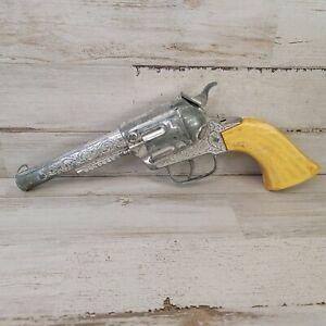 """Vintage Die Cast Tootsie Toy """"PONY BOY"""" Toy Cap Gun Metal Cowboy Needs Spring"""