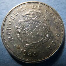 *COSTA RICA, Vintage 1984  1 COLON COIN, Fine Circulated, NICE COIN