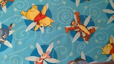 1 Half Metre length Winnie the Pooh Flower Swirls Print Fabric - 40090