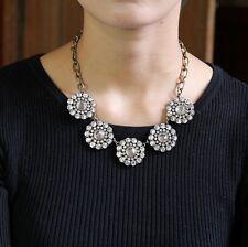Collare Da Donna Catena Cristallo Tondo Vintage Stile Originale Sera Matrimonio