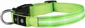 Grün M MASBRILL  LED Leuchthalsband Aufladbar  Hundehalsband 100%  Wasserdicht