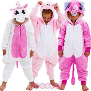 Surprise Pigiama Intero in Pile per Bambina Kitty E Unicorno 4-12 Anni L.O.L