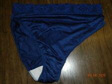 Patina Vintage Satin Undies Panties Navy blue Womens 9