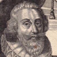 Portrait XVIIe Jacques Nompar de Caumont Nompar De Comone De La Force Maréchal