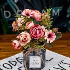 Fake Tea Rose Silk Flower Fall Gerbera Daisy Artificial Wedding Home Decoration