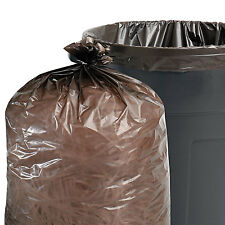 Stout 100% Recycled Plastic Garbage Bags 7-10gal 1mil 24 x 24 Brown/Black 250/CT