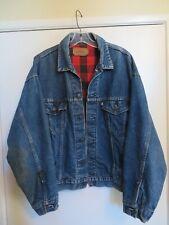 New listing Levis Vintage Buffalo Plaid-lined Denim Jacket, Men's Large 70417 0814