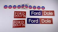 Ford Dole 1976 Political Bumper Stickers + Stickers