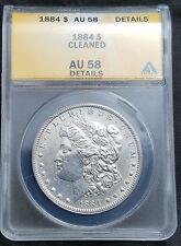 1884 $1 Morgan Silver Dollar AU 58