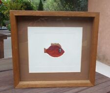 """VICENTE GANDIA (1935-2009) LIMITED EDITION 153/250 """"FISH"""" ETCHING SIGNED"""