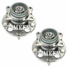 Pair Set of 2 Rear Timken Wheel Bearing & Hub Assemblies Kit for Hyundai Kia FWD