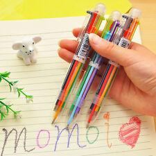 Multi-color Transparent  Ballpoint Pen Refill Student Stationery Multifunction