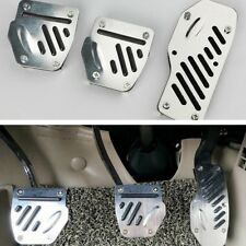 Silver Foot Pedals Pad Covers Manual Transmission for Brake Clutch Accelerator
