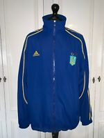 Official Ukraine Olympic Team Zip Jacket Windbreaker Retro Vintage Blue RARE XL