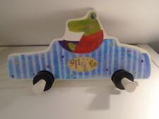 Wooden crocodile design blue toned children's coat hook, IKEA Fabler range