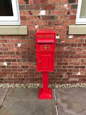 Large Red Replica Royal Mail Post Box Or Letter Box with stand