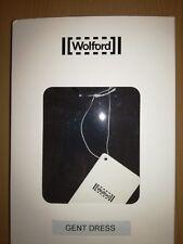 WOLFORD GENT DRESS Beluga/Black Herringbone Size M UK 14/16 Cotton Blend NIB