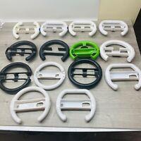 Huge Lot of 14 Racing Wheels for Nintendo Wii steering mario kart WHITE BLK GRN
