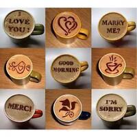 16pcs Cake Latte Cappuccino Decorating Coffee Art Stencils Foam Tool