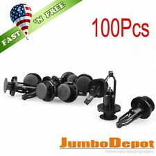 US 100X 9mm Bumper Fastener Rivet Push Retainer Plastic Clips Fit Toyota Camry