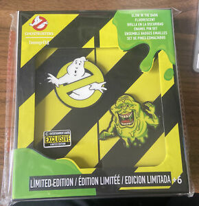 Ghostbusters Glow in the Dark Pin Set of 2 Entertainment Earth Exclusive