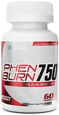 Double Strength Phen375 PhenBurn® 750 Fat Burner 60 Capsules 1 Month Supply