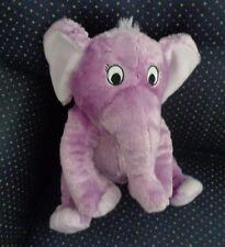 "10"" Sitting Dr Seuss Horton Hears A Who Plush Purple Elephant"