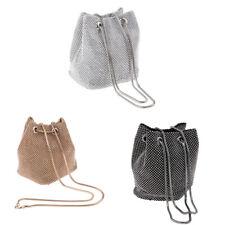 Evening Clutch Bag Crystal Rhinestone Handbag Bucket Bag Purse for Women
