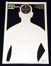 "1973 Original Movie Poster""MAFIA Boss""Savalas.Italia Alberto de Martino art film"