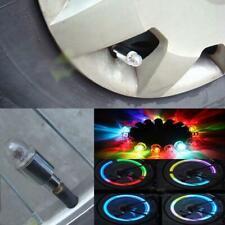 4Pcs Led Car Bike Lights Lamps Round Tire Valve Caps Neon Wheel Motorcycle Us