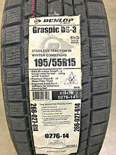 4 New 195 55 15 Dunlop Graspic DS-3 Snow Tires