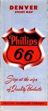 1955 Phillips 66 Road Map: Denver NOS