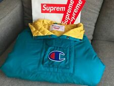 Supreme x Champion SS18 Pullover Parka Teal Size L 🔥 IN HAND 🔥| New Authentic