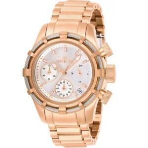 Invicta Bolt 27493 Women's Cable Bezel Rose Gold Tone Chronograph Watch