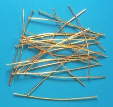 """20 x 3"""" soft thick (0.75mm dia) GP headpins, findings for jewellery making craft"""
