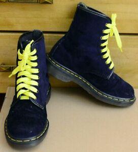 Dr Martens 1460 Purple Velvet Vintage Made in England shoes, Size UK 4