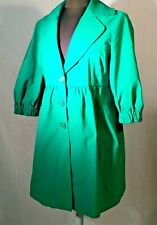 Nine West Coat Size M Emerald Green Nylon Cotton 3/4 Sleeve Light