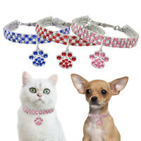 Bling Dog Necklace Rhinestone Diamond Pendant Pet Cat Collar for Small Dog Puppy