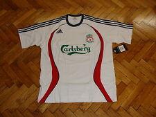 Liverpool Soccer Tee Adidas Cotton Football Training Shirt Maglia Trikot White L