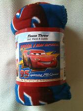 *OPEN ITEM* Lightning McQueen Cars Disney Fleece Blanket Throw NEW RARE ITEM