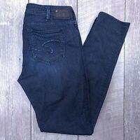 Silver Jeans Suki Super Skinny Womens 31x31 Dark Wash Mid Rise Polka Dot J716