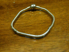 Authentic Pandora Sterling Silver Bracelet with Pandora Lock