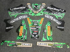 Kawasaki KX125 KX250 2003-2010 Team Bad Boy USA graphics decals set GR1394