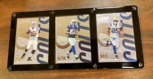 INDIANAPOLIS COLTS 3 CARD PLAQUE ANDREW LUCK T.Y. HILTON MARLON MACK