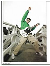 Weezer Rivers Cuomo Gibson Sg guitar pin-up photo bonus group photo on back side