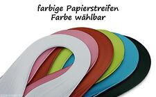 Quilling Papierstreifen 120 Stück 390mm lang 3mm breit Farbe wählbar (30+)