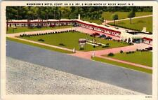 ROCKY MOUNT, NC North Carolina  Washburn's MOTEL COURT  1953  Linen Roadside