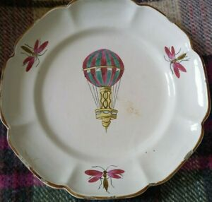 Assiette au ballon, ancienne, de Lunéville ou Les Islettes