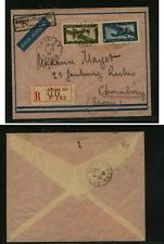 Indochina  C6, C12    on  registered cover      KS0329